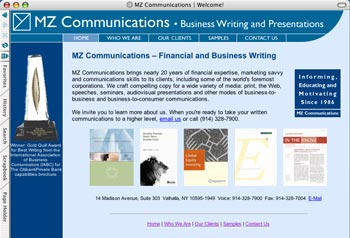 MZ Communications Web Site